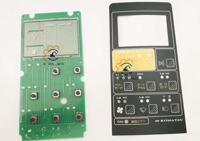 Komatsu PC200-5 LCD Installed Circuit Board Up Monitor Fittings