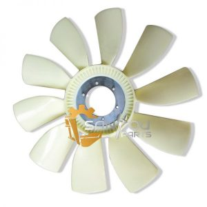 R210 Fan Blade 6 holes 10 leaves Fan Blade For Hyundai Excavator
