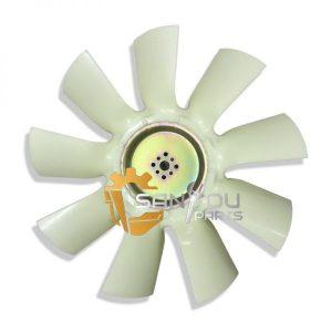 R225-7 Fan Blade 8 holes 9 leaves Fan Blade For Hyundai R225-7