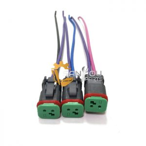 E320C Solenoid Valve Plug Sockets For CAT320C 320B