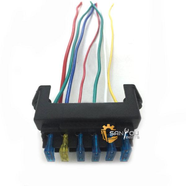 PC60-7 Fuse Box 6 Wires For Komatsu PC60