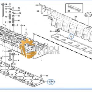 EC210B VOE20798183 cylinder head gasket VOE20798186 cylinder head gasket voe20841035 gasket engine parts for volvo ec210b engine parts for excavator