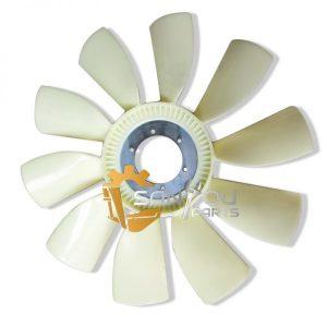 R210 Fan Blade 6 holes 10 leaves Fan Blade For Hyundai Excavator