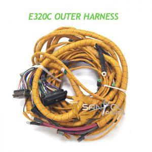 E320C Outer Harness External Wiring Harness 186-4605 HE01 Sockets